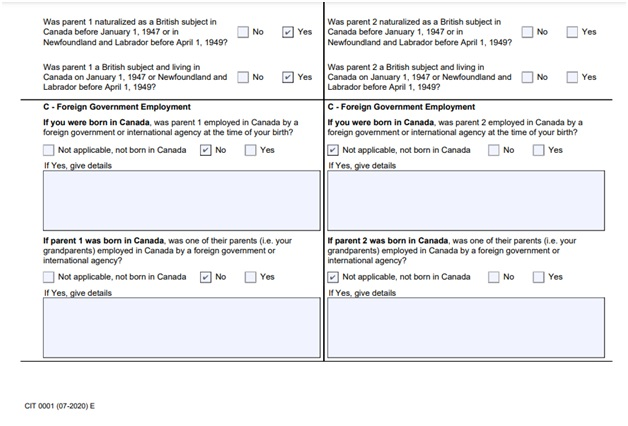 Citizenship Certificate Application Form Page 4 Bottom