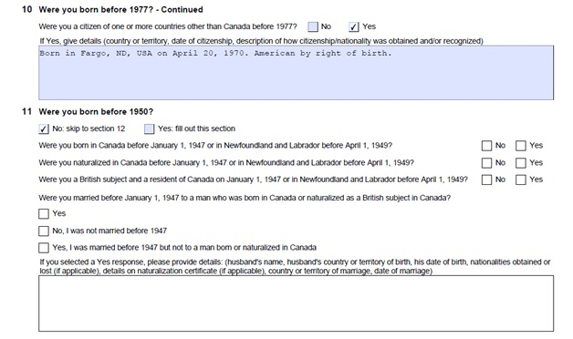 Citizenship Certificate Application Form Page 7 Top