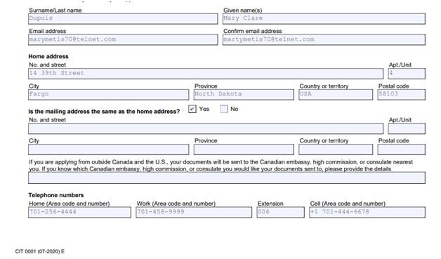 Citizenship Certificate Application Form Page 7 Bottom