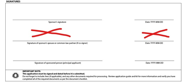 Application to Sponsor, Sponsorship Agreement and Undertaking Page 7: Signatures