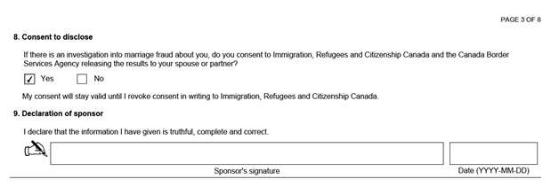 IMM 5532 Relationship Information and Sponsorship Evaluation Page 3 Top: Sponsor's Consent to Disclose