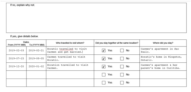 IMM 5532 Relationship Information and Sponsorship Evaluation Page 5 middle: Information About Relationship part 2