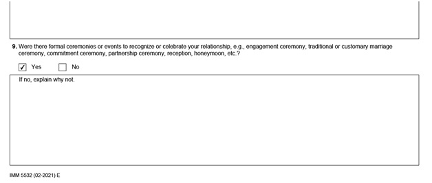 IMM 5532 Relationship Information and Sponsorship Evaluation Page 6 bottom: Family members with knowledge of your relationship Part 2