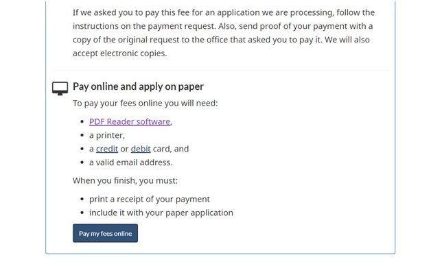 IRCC's sponsorship fee payment instructions