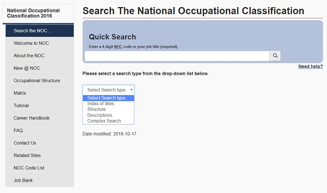 NOC Search Tool