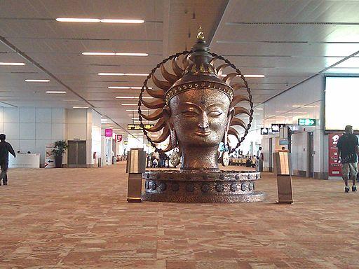 Dehli Airport Buddha Statue By User:Ne0Freedom (User:Ne0Freedom) [CC0], via Wikimedia Commons