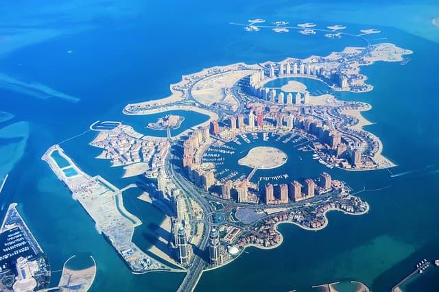 Artificial Islands in Doha via https://pixabay.com/photos/artificial-islands-qatar-doha-3850752/