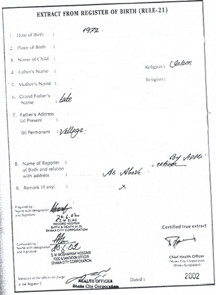 Do i exist without a birth certificate immigroup we are bangladesh extract from register of births yadclub Choice Image