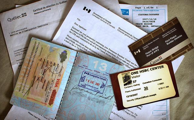 Canadian immigration documents via https://www.flickr.com/photos/meddygarnet/4195530627/