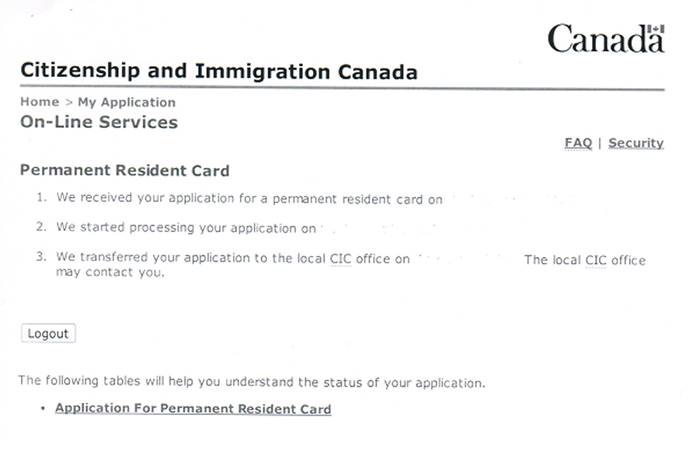 Top 4 signs you are getting a residence questionnaire after you have cic status check for permanent resident card altavistaventures Image collections