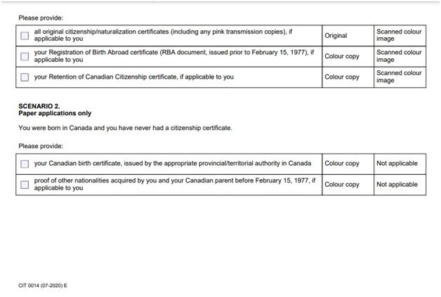 CIT 0014 Document Checklist Page 2 Bottom