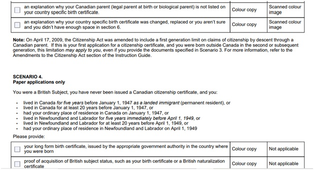 CIT 0014 Document Checklist Page 3 Bottom