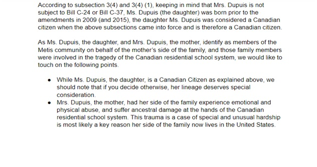 Citizenship certificate letter of explanation page 2 bottom