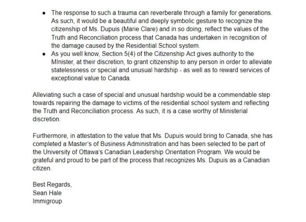 Citizenship certificate letter of explanation page 3