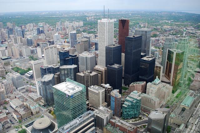 Downtown Toronto via http://pixabay.com/static/uploads/photo/2012/02/25/19/06/downtown-16916_640.jpg