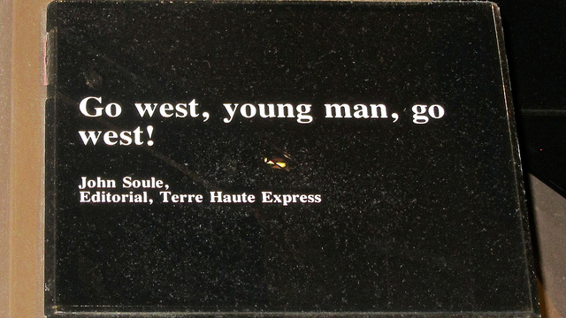 Go west, young man, go west by Peter Lawther