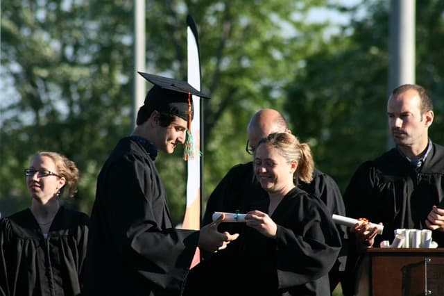 Graduation via https://pixabay.com/photos/graduation-secondary-v-diploma-toga-2337946/