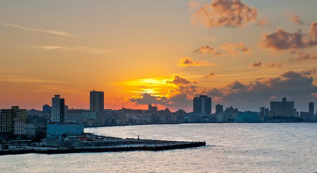 Havana Sunset via https://www.flickr.com/photos/jaumescar/8453589659/