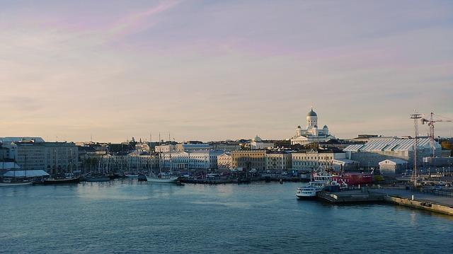 Helsinki via https://pixabay.com/en/helsinki-harbor-cityscape-ship-408809/