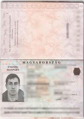 Foreign passport's biographical page