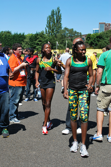 Jamaican Track and Field Team in Birmingham by Maureen Howell