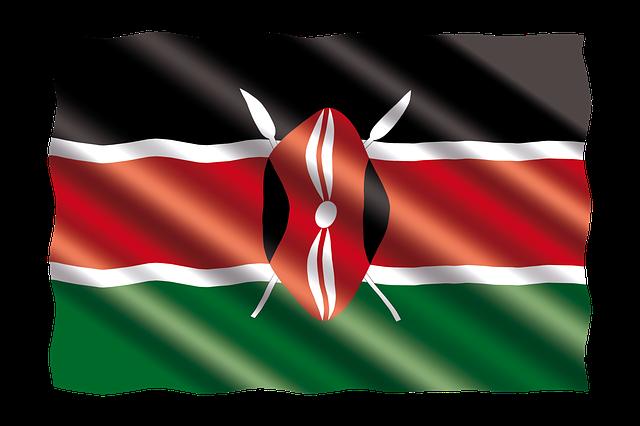 Kenyan Flag via https://pixabay.com/en/international-flag-kenya-2657227/