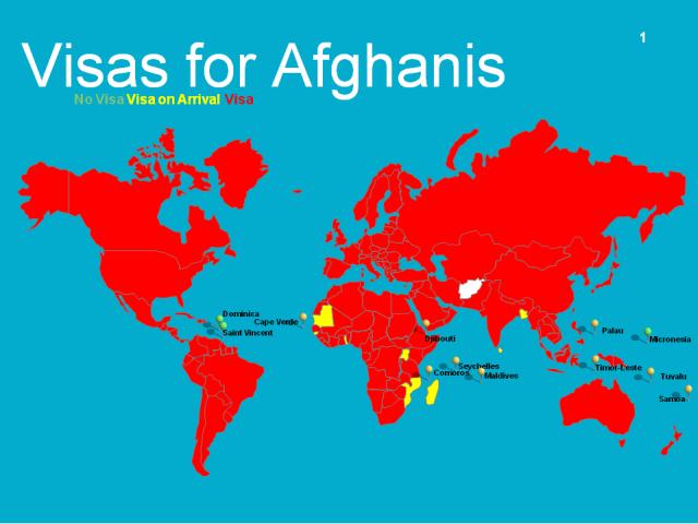 Visa options for Afghanis