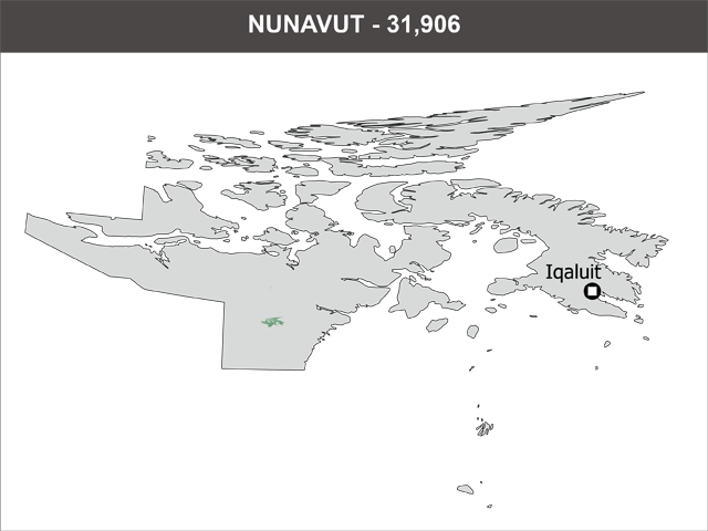 Population of Nunavut