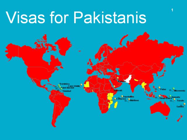 Visas for Pakistanis