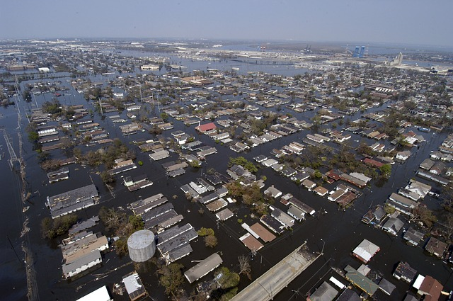 New Orleans during Katrina via https://pixabay.com/en/new-orleans-louisiana-81669/