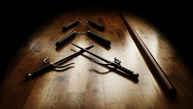 Ninja weapons via https://www.flickr.com/photos/t4llberg/5828882565/