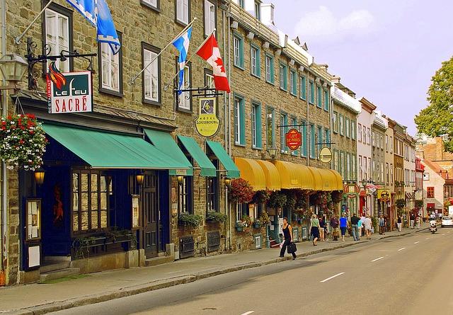 Lower Quebec via https://pixabay.com/en/canada-quebec-old-quebec-lower-town-1092352/