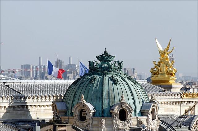 Paris via https://pixabay.com/en/paris-roofs-fireplaces-tourism-2083469/