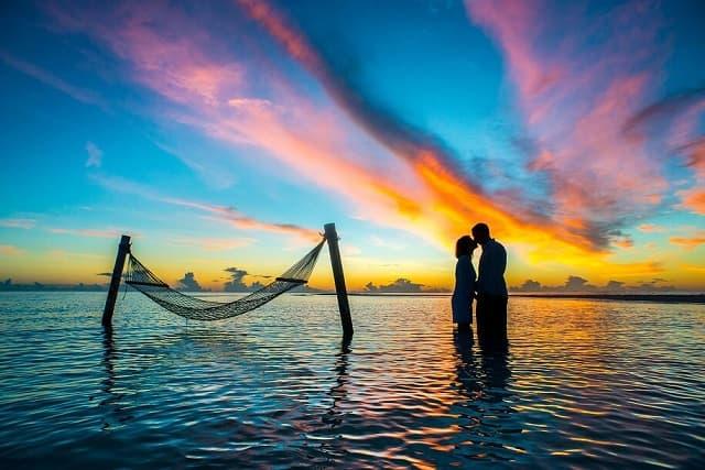 Couple in the Maldives
