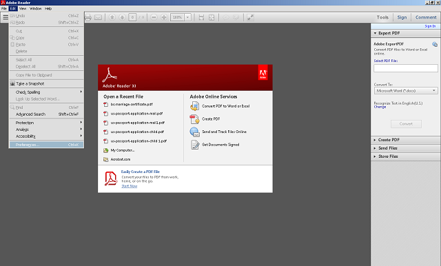Edit Java Script Preferences in Adobe Reader