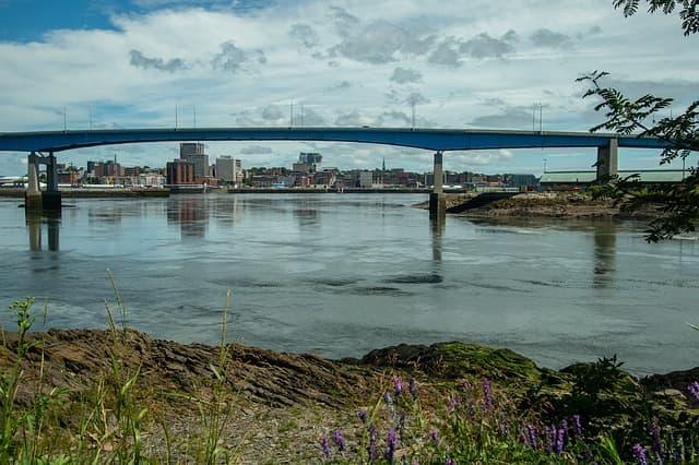 Saint John via https://pixabay.com/photos/saint-john-water-harbour-bridge-3556952/