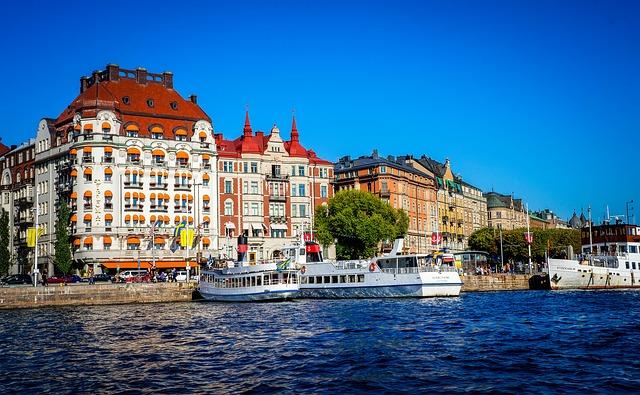 Stockholm via https://pixabay.com/en/stockholm-sweden-architecture-city-438231/