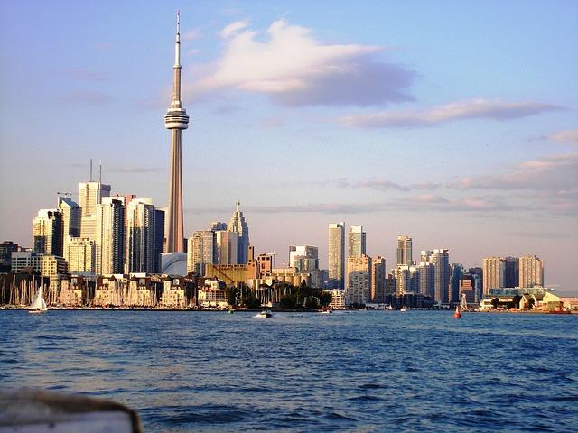 Toronto via https://pixabay.com/en/toronto-skyline-cityscape-164813/