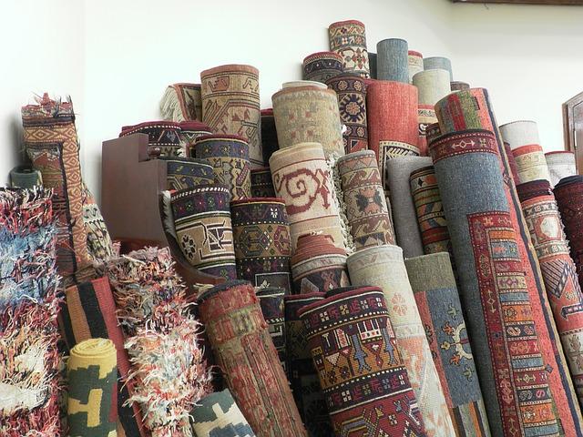 Turkish rugs via https://pixabay.com/en/turkey-cappadocia-carpets-carpet-1198385/