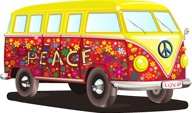 Volkswagen bus via https://pixabay.com/vectors/volkswagen-car-bus-mobile-home-158463/