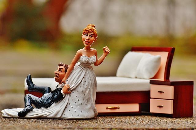 Marital Bliss via https://pixabay.com/en/wedding-night-bride-groom-to-force-1116722/