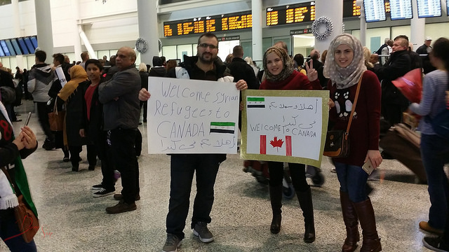 Welcoming Syrian Refugees to Canada by Dominic Santiago via https://www.flickr.com/photos/domsworld/23275788489/
