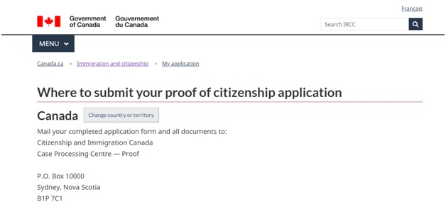 Which IRCC office to submit your citizenship certificate to