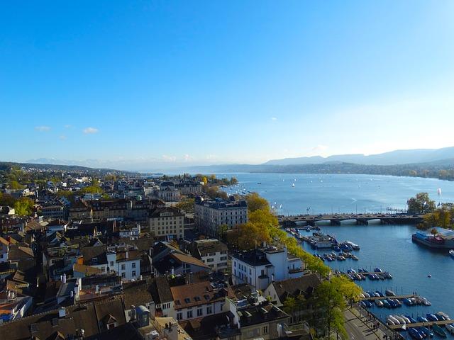 Zurich via https://pixabay.com/en/zurich-city-aerial-view-town-center-504255/