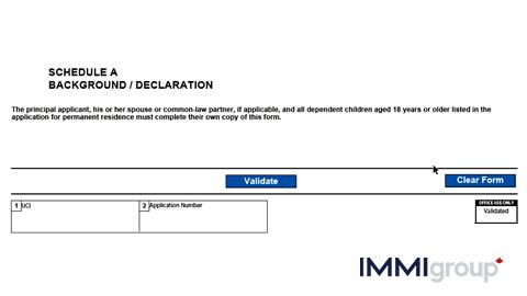 IMM 0008DEP personal details