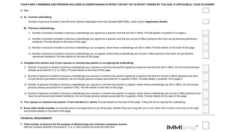 IMM 5678 Checklist