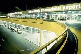 Outside Indira Gandhi Airport
