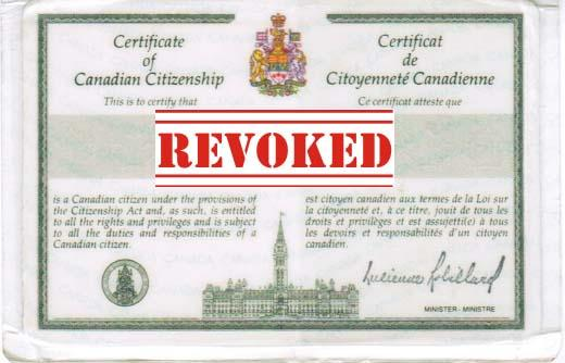 Revoked Citizenship Card