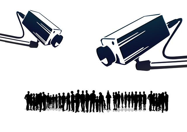 Surveillance [Public Domain] via http://pixabay.com/en/human-humanity-silhouettes-camera-109103/