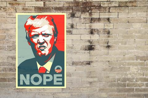 Trump Nope via https://pixabay.com/en/trump-donald-trump-donald-president-1915253/